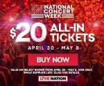 $20 concert tickets for National Concert Week INTRUST Bank Arena