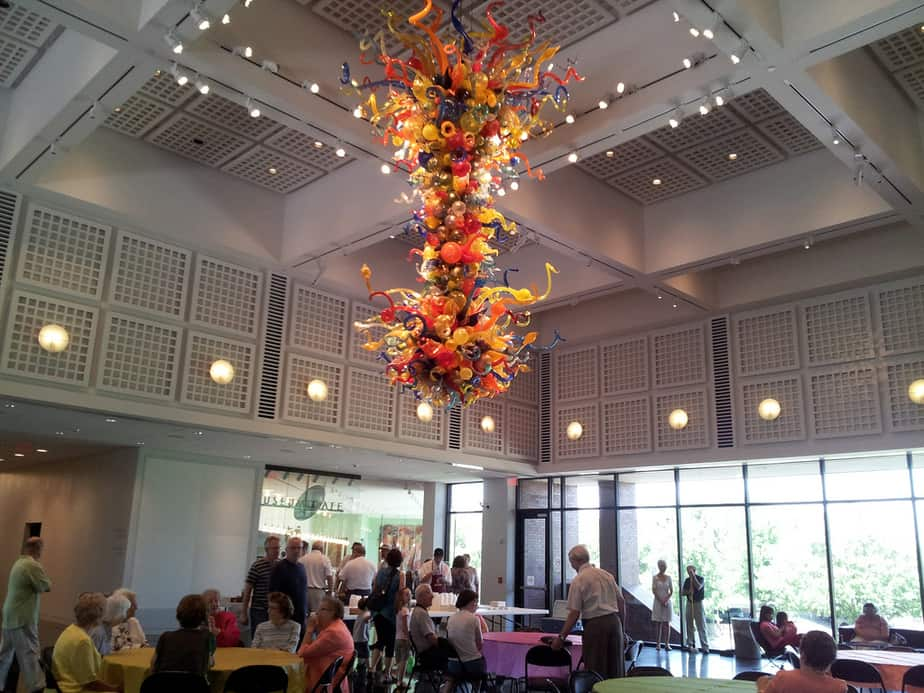 Wichita Art Museum hanging glass sculpture