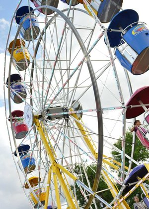 The ferris wheel at the Sedgwick County Fair in Cheney KS