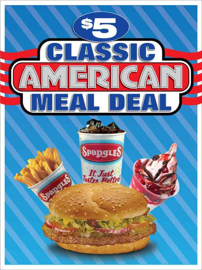 Spangles $5 Classic American meal deal in August