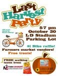 Last Harvest Party October 30