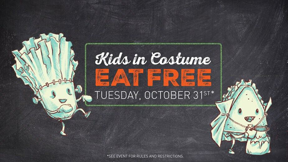 kids in costume eat free at mcalisters deli in wichita