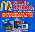 Grand Opening of McDonalds at 21st and Greenwich