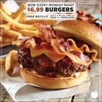 Applebee's bottomless fries and burger for $6.99