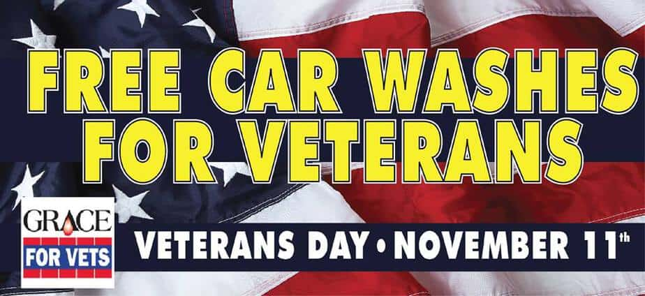 Free car washes for veterans on veterans day free car washes for veterans from grace for vets and local car wash businesses fandeluxe Gallery