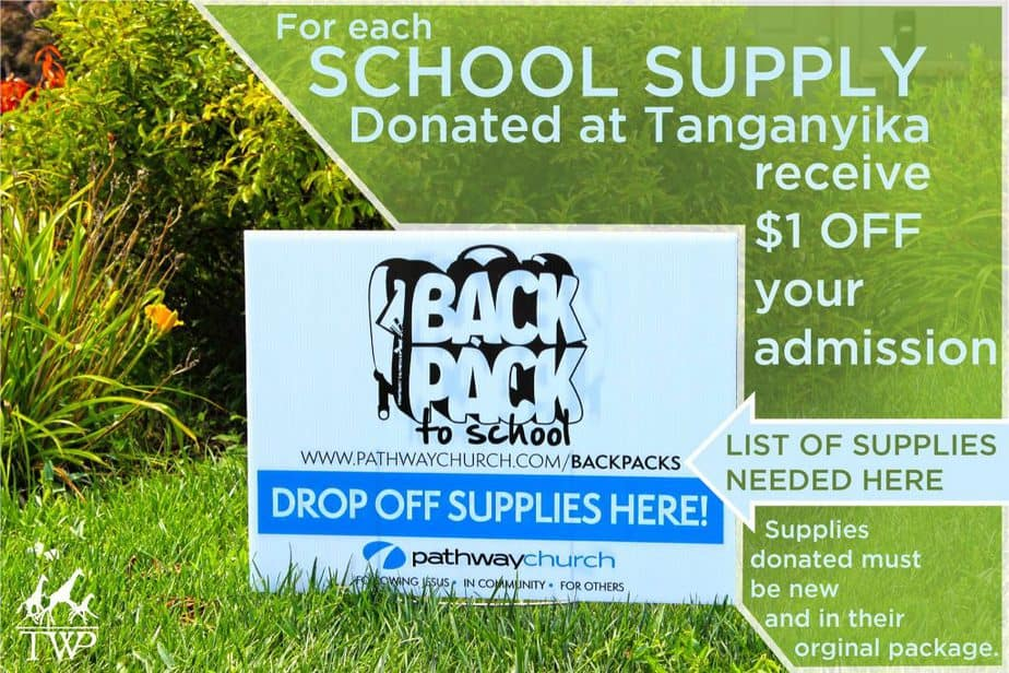 Save up to 50% off admission at Tanganyika Wildlife Park with school