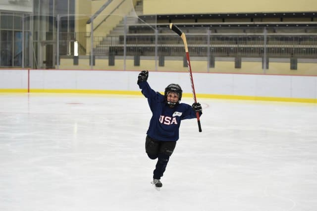 Kids try hockey for free at the Wichita Ice Center