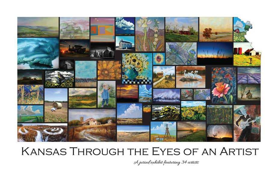 Kansas Day exhibit at Carriage Factory Art Gallery - Kansas through the eyes of an artist