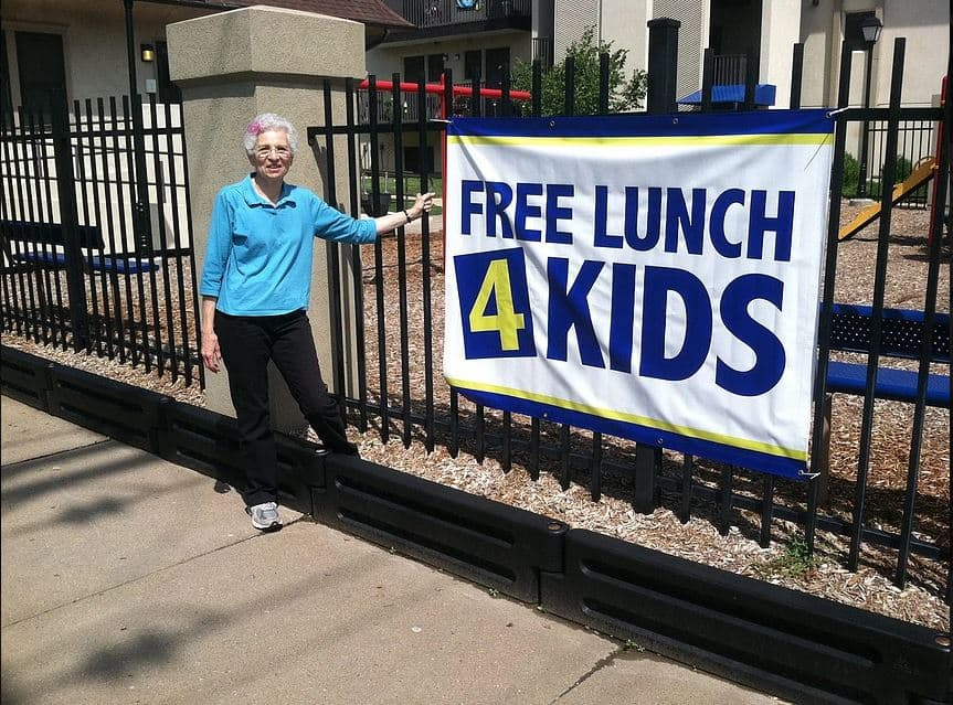 Free lunch 4 kids when school is out from Partners for Wichita