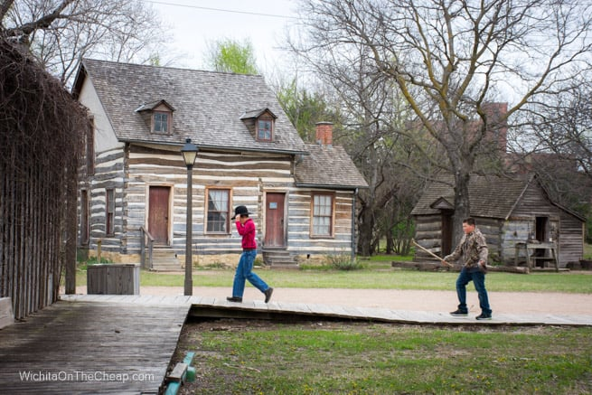 Kids playing at Old Cowtown Museum