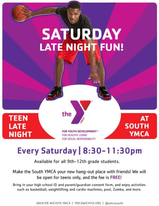 Free teen late-night program at the South YMCA