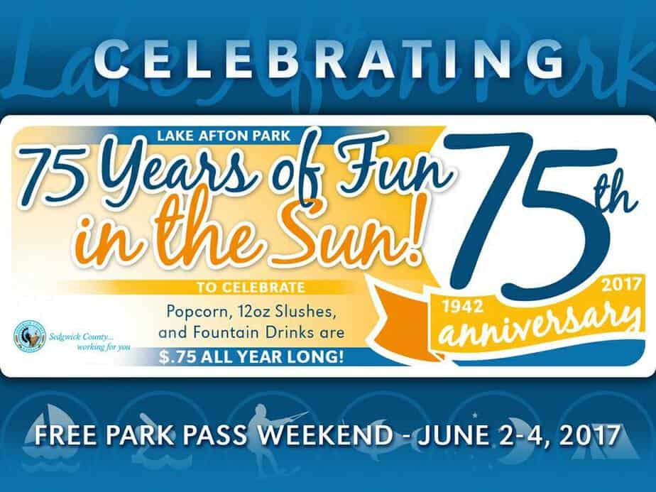 No entrance fee to Lake Afton June 2-4, 2017 to celebrate Lake Afton's 75th anniversary