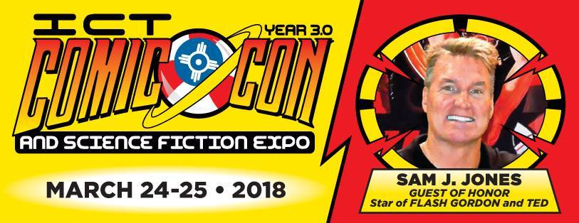 ICT Comic Con 2018 with legendary Flash Gordon actor Sam J. Jones