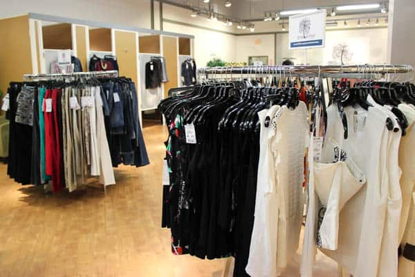 Gray Willow clothing racks and dressing rooms