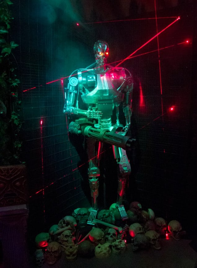 Terminator Halloween display at 3040 S. Gordon Street in Wichita