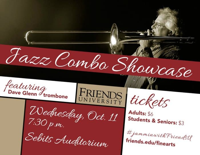 Friends University Jazz Showcase featuring Dave Glenn on October 11