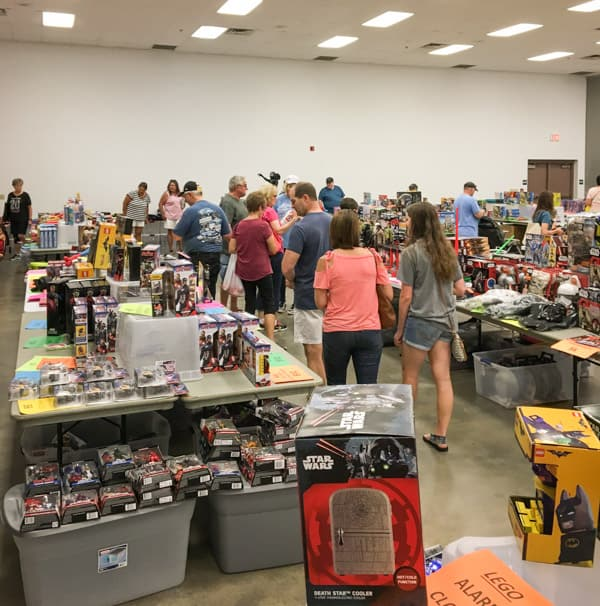 Awesome toy sale shoppers searching the bargains