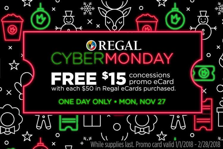Cyber Monday Regal Cinemas (formerly the Warren Theatres ...