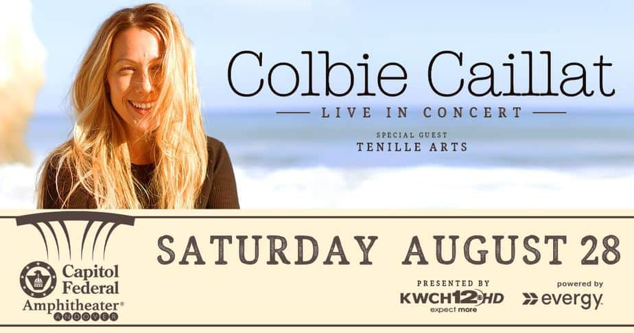 Colbie Caillat concert Capitol Federal Amphitheater in Andover, Kansas (near Wichita KS)