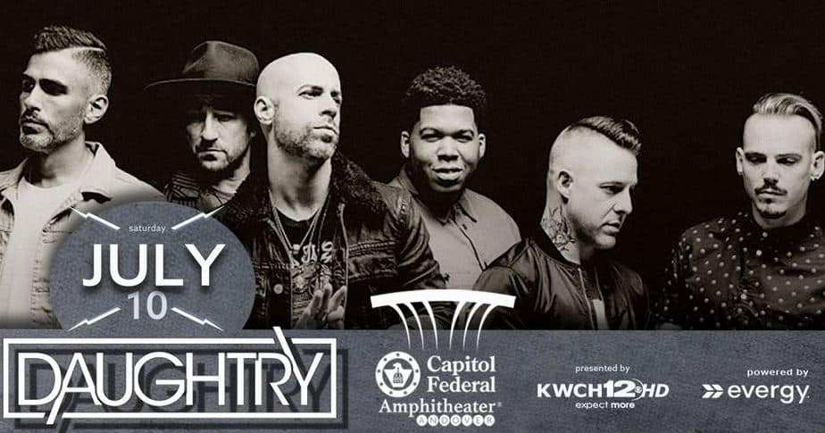 Daughtry in concert July 10 at Andover KS Capitol Federal Amphitheater