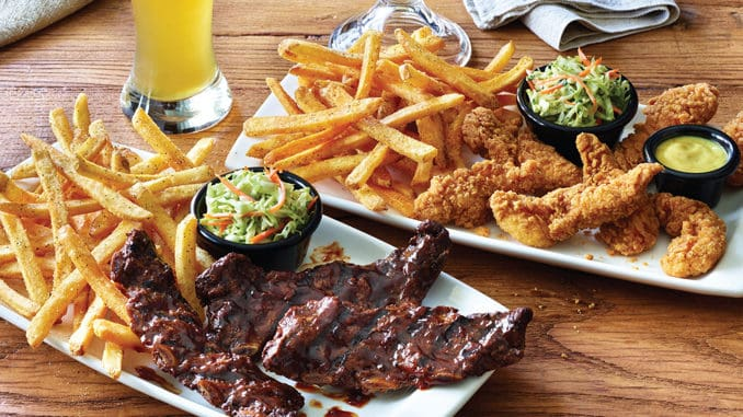Applebees all-you-can-eat riblets, tenders, or shrimp