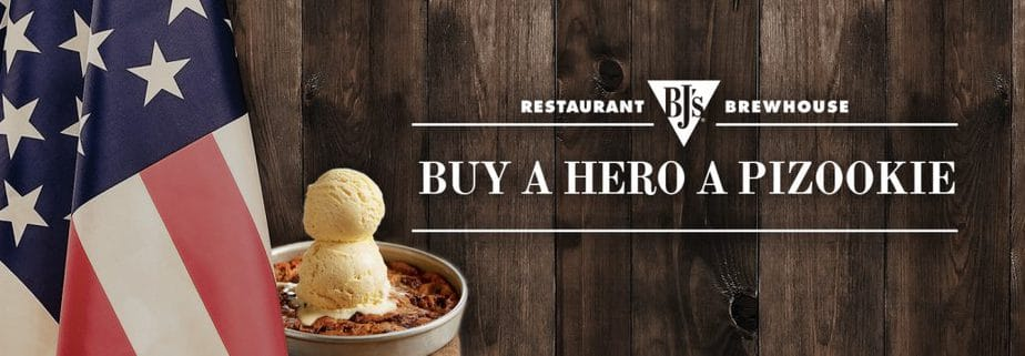 Buy a Hero a Pizzokie at BJ's Brewhouse every day in November