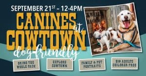 Bring your dog to Cowtown
