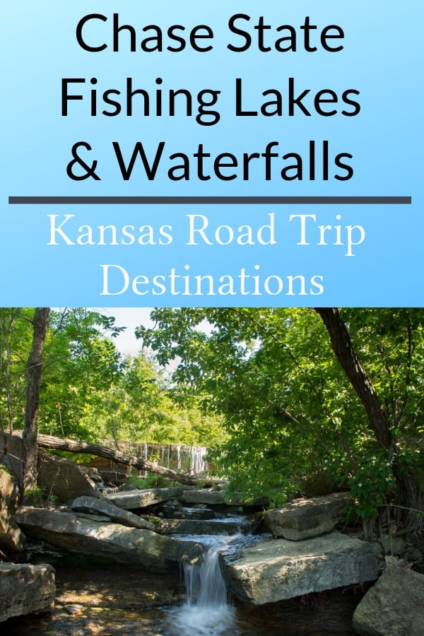 Chase State Fishing Lake Waterfalls in Flint Hills Kansas