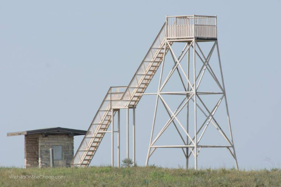 Observation tower at Maxwell Wildlife Refuge near Canton, Kansas, along the Prairie Trail Kansas Scenic Byway