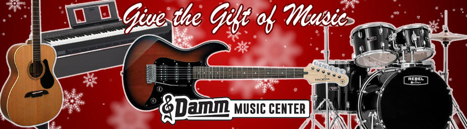 Give the gift of music! Damm Music Center Christmas Catalog