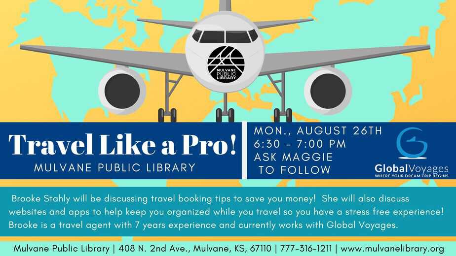 Computer Class - Travel Like a Pro @ the Mulvane Public Library