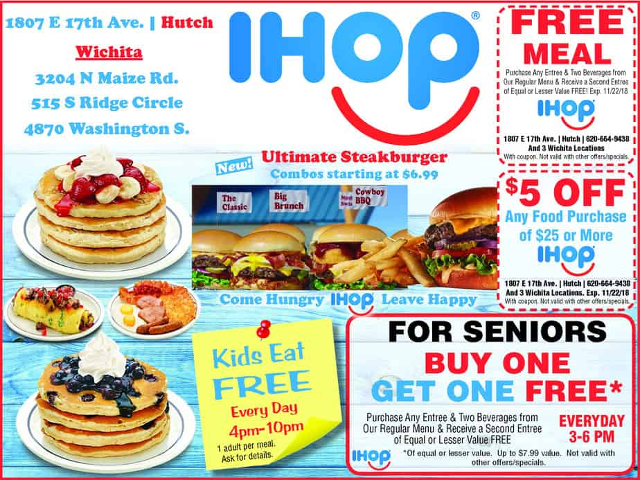 Wichita and Hutch IHOP coupon!