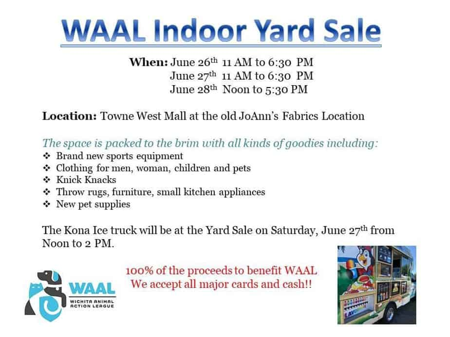 WAAL Indoor Yard Sale