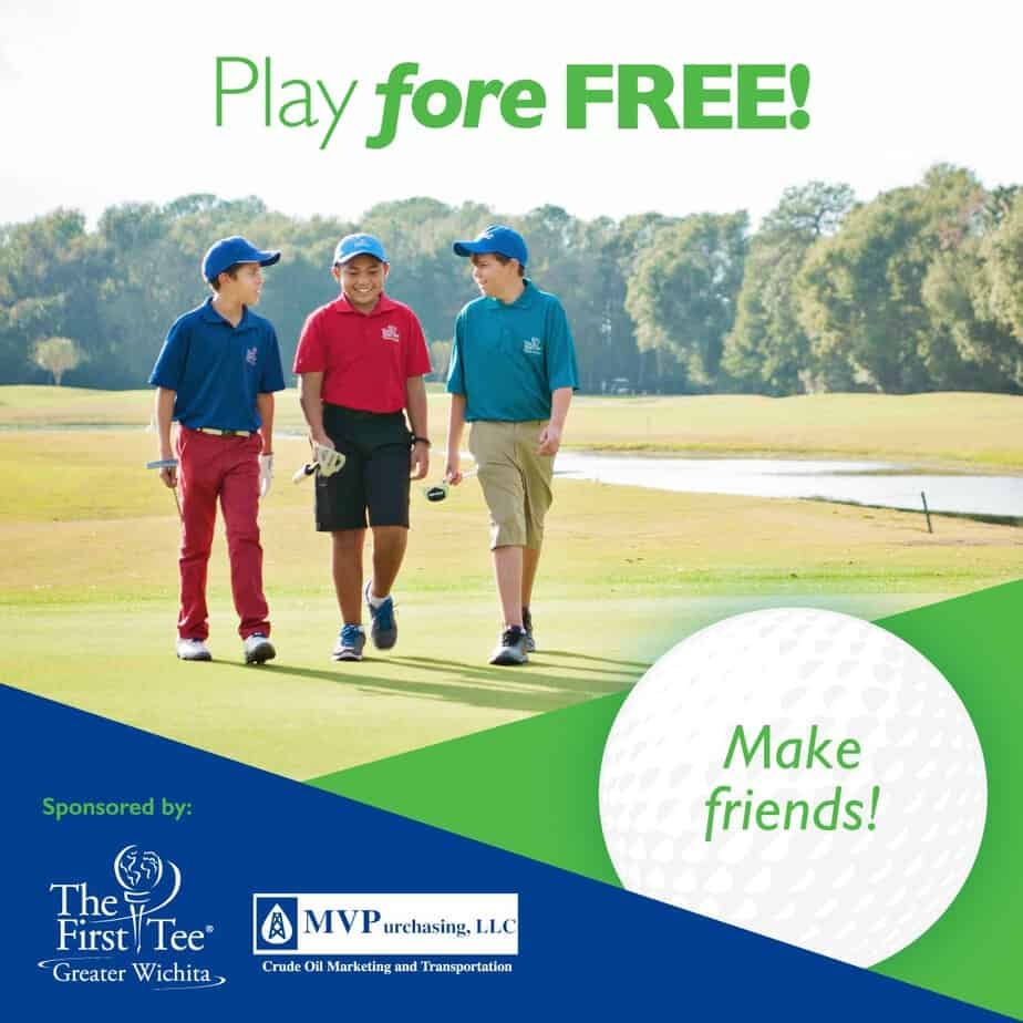 Kids play golf free in Wichita this summer