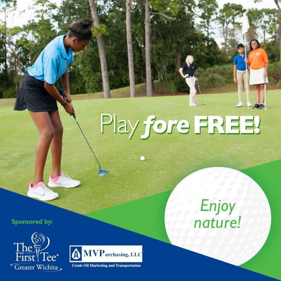 Golf fore free - juniors ages 17 and younger at any Wichita Public Golf Course this summer