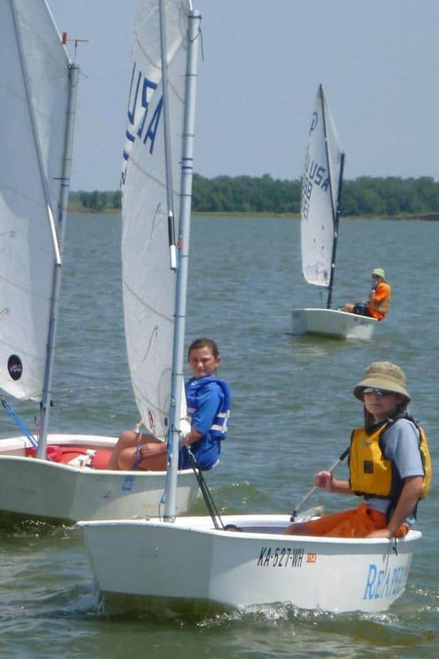 Junior Sailing Lessons at the Ninnescah Sailing Association