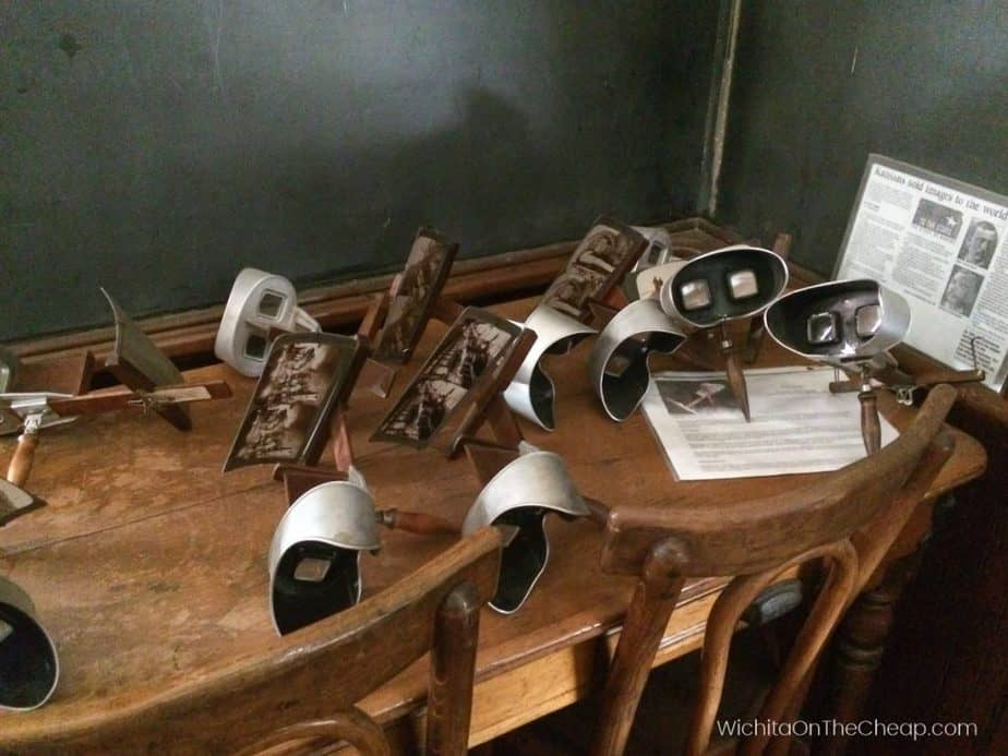 Stereoscopes in the McCormick School Museum, Wichita, KS