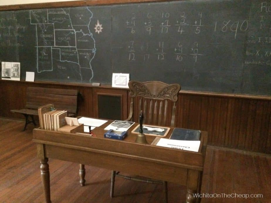 McCormick School Museum in Wichita, KS - vintage teacher's desk