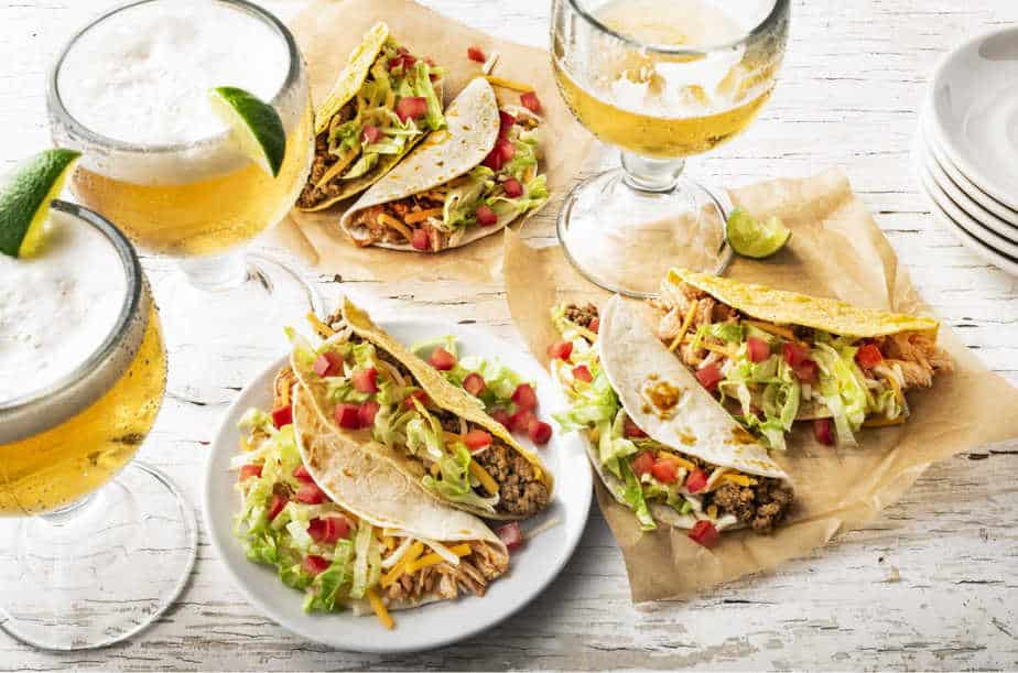 Tacos and drinks from On the Border Wichita