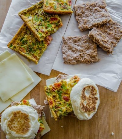 Chipotle Egg Muffin Sandwiches from Prep-Ahead Breakfasts and Lunches cookbook