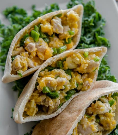 Prep-Ahead Breakfasts and Lunches - Jalapeno Chicken Pita Pockets recipe