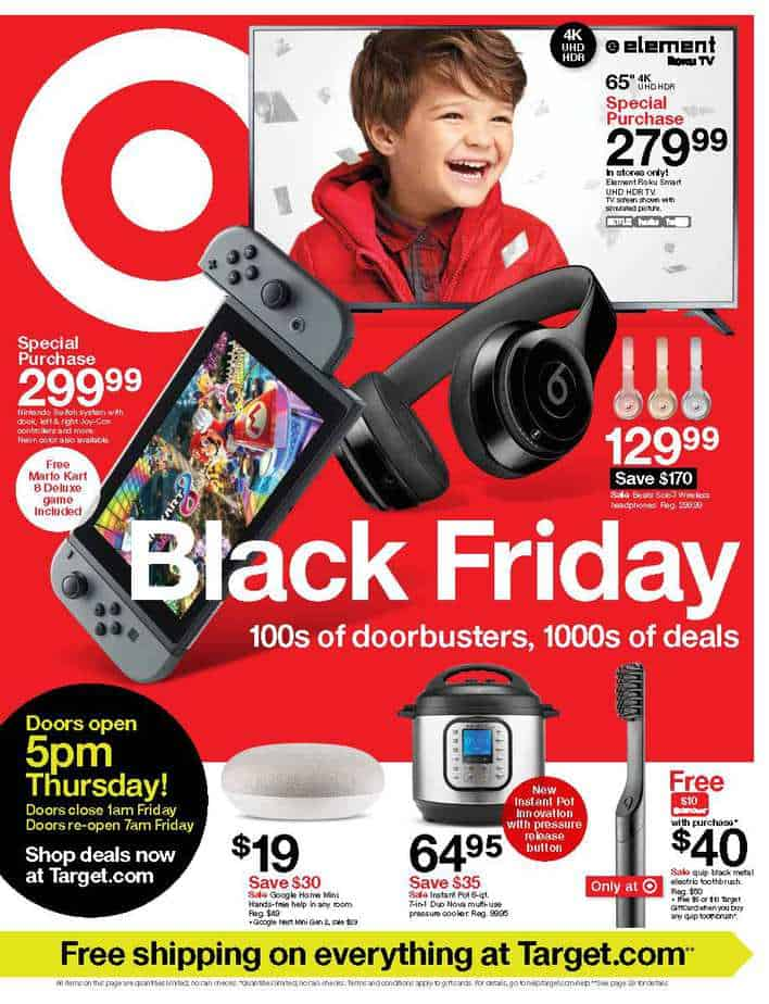 Target Black Friday ad 2019 sneak peek