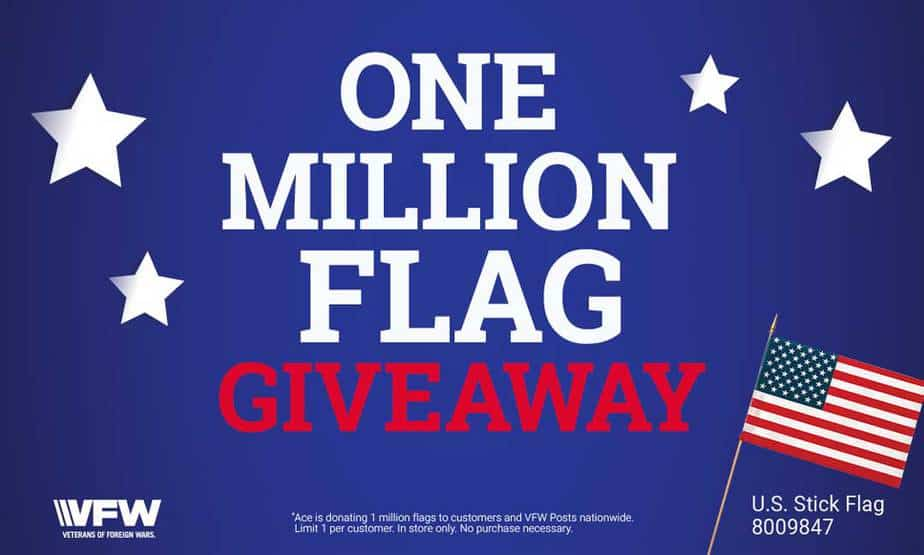 Ace Hardware free American flag giveaway Memorial Day