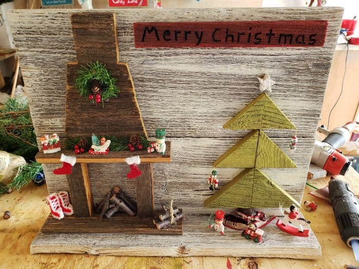 adorable winter vignette wall hanging