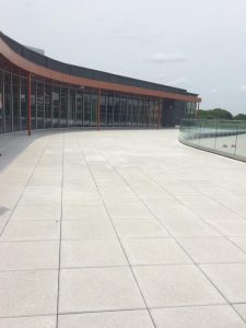 Outdoor Reading Terrace new Wichita Public Library Advanced Learning Library branch