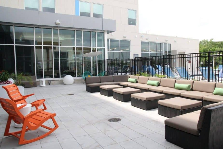 Aloft Wichita patio area