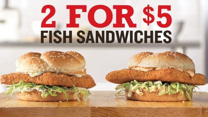 Arby's fish sandwich deal: 2 for $5