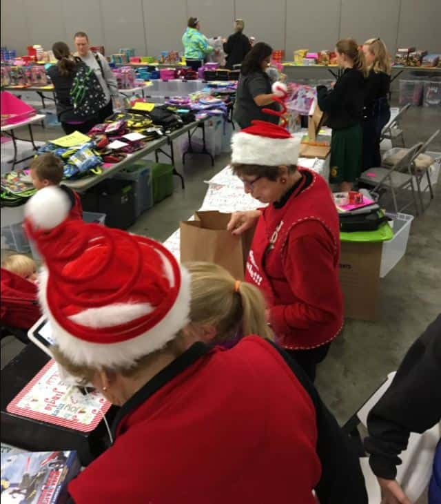 Santa's helpers at the AWESOME TOY SALE!!! in Wichita at the Sedgwick County Extension