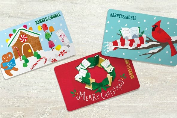 Barnes and Noble holiday gift cards with bonus deal