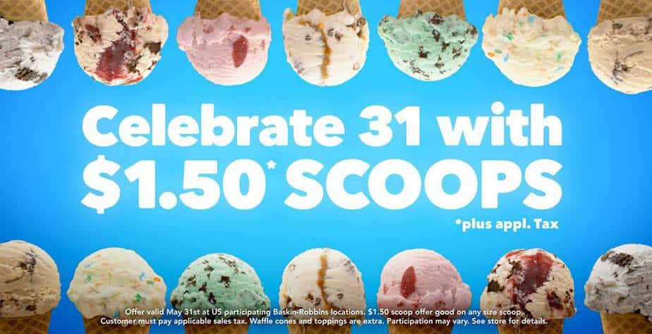Baskin Robbins 1.31 scoops